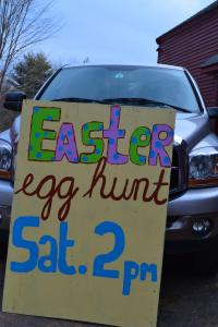 Easter cookies and egg hunt