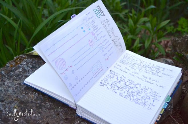 garden journal for a garden grown from seeds