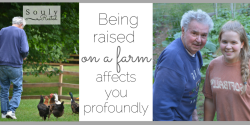 being raised on a farm