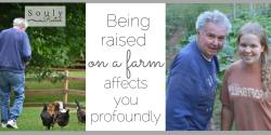 being raised on a farm